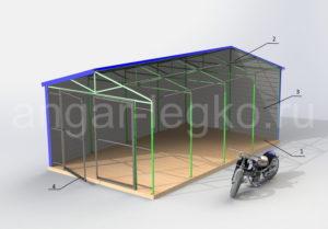 Конструкция гаража-Легко