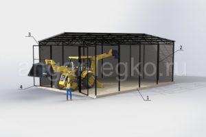 Конструкция прямого ангара